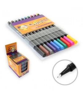 Rašiklių rinkinys PENWORD LINER, 0,4 mm, 18 spalvų