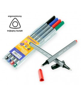 Rašiklių rinkinys PENWORD LINER, 0,4 mm, 4 spalvos