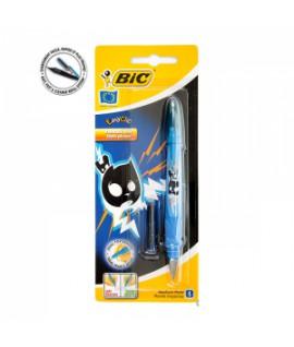 Plunksnakotis BIC EasyClick Žaibas, pakuotėje, mėlynas rašalas