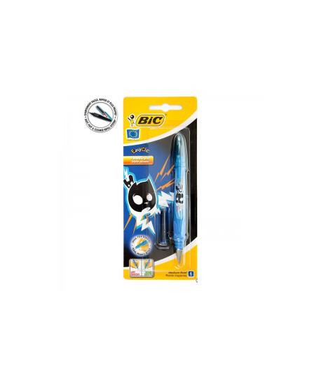 Plunksnakotis BIC EasyClick FOOTBALL, pakuotėje, mėlynas rašalas