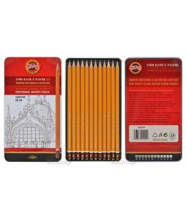 Pieštukai braižybai KOH-I-NOOR 1502/III GRAPHIC 12 vnt.