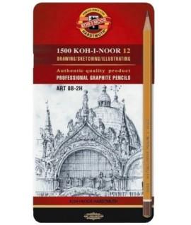 Pieštukai braižybai KOH-I-NOOR 1502/II ART 12 vnt.