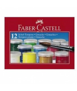 Guašas FABER CASTELL , 12 spalvų