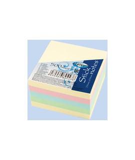 Lipnūs lapeliai CENTRUM kubas, 75 x 75 mm, 4 spalvos po 100 lapelių