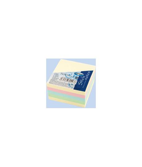 Lipnūs lapeliai CENTRUM kubas, 4 spalvos po 100 lapelių