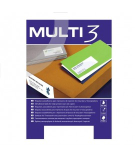 Lipnios etiketės MULTI-3, 105 x 48 mm, A4, 100 lapų