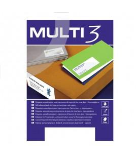 Lipnios etiketės MULTI-3, 70 x 35 mm, A4, 100 lapų