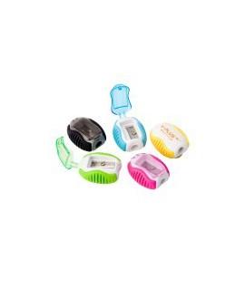 Drožtukas ICO, dengtas guma, su konteineriu, įvairių spalvų