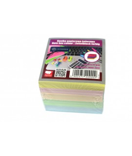 Lapeliai užrašams INTERDRUK, 85 x 85 x 70 mm, spalvoti
