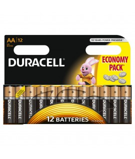 Baterijos DURACELL LR06 AA 12 vnt.