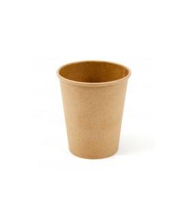 Vienkartiniai popieriniai puodeliai karštiems gėrimams 250 ml, rudi, 50 vnt.