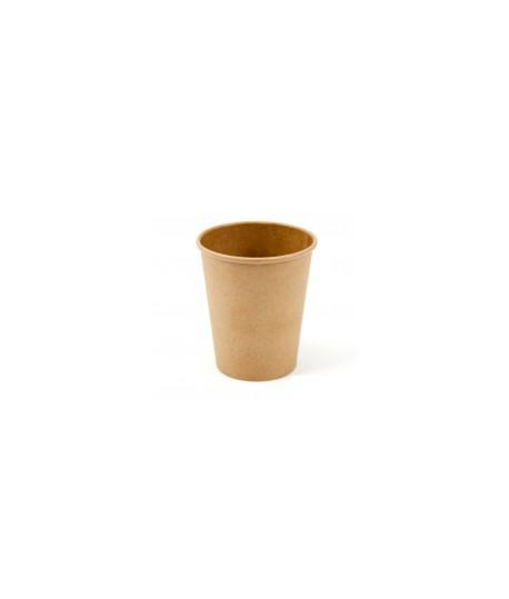 Vienkartiniai puodeliai karštiems gėrimams 300 ml, rudi, 50 vnt.
