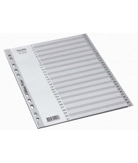 Skiriamieji lapai BANTEX STRONG-LINE, A4, plastikiniai, 1-100