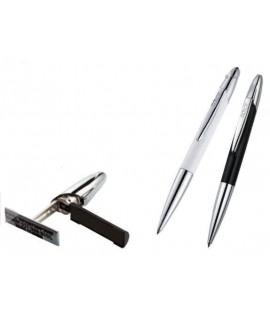 Antspaudas - rašiklis COLOP EXCLUSIVE, baltas korpusas, juoda pagalvėlė