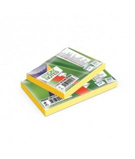 Lipnūs lapeliai FORPUS, 75 x 125 mm, 80 lapelių, NEON geltona