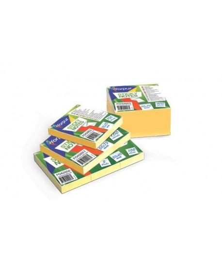 Lipnūs lapeliai FORPUS 75 x 75 , kubas, 400 l, gelsvi