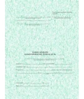 Kasos operacijų žurnalas vertikalus, A4/73 lapai