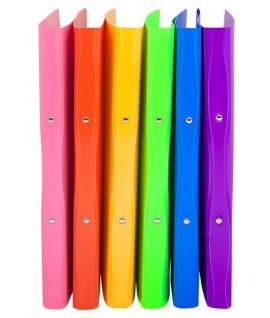 Segtuvas plastikinis COLLEGE TROPICAL A4, 2 žiedai, įvairių spalvų