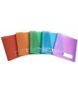 Segtuvas plastikinis COLLEGE CRYSTAL A4, 2 žiedai, įvairių spalvų