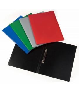 Segtuvas plastikinis COLLEGE SAND A4, 2 žiedai, įvairių spalvų