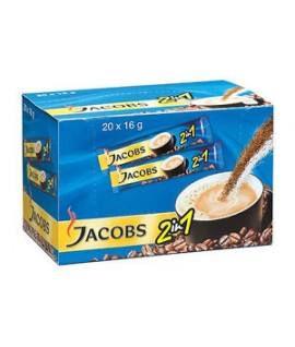 Kava JACOBS 2 in 1, 20 vnt x 14 g