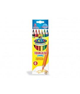 Tribriauniai spalvoti pieštukai CARIOCA MAXI 6 spalvos