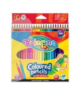 Tribriauniai spalvoti pieštukai CARIOCA 12 spalvų