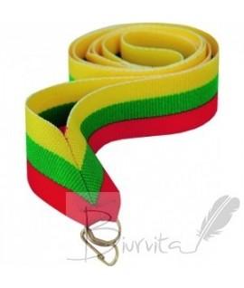Juostelė tautinė (medaliui, kortelei) 22 mm (geltona, žalia, raudona)