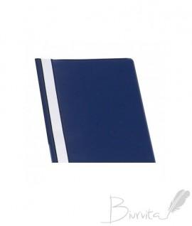 Segtuvėlis A5 skaidriu viršeliu, tamsiai mėlynas