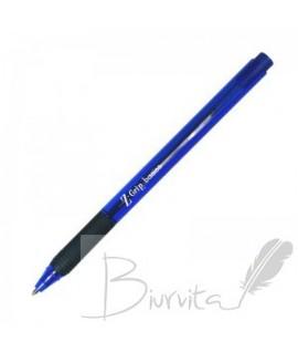 Tušinukas ZEBRA Z-GRIP Basic , 1mm, mėlynas