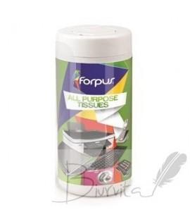 Plastikinių paviršių valymo servetėlės FORPUS , 100 vnt.