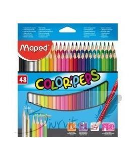 Spalvoti pieštukai MAPED, 48 spalvos, tribriauniai