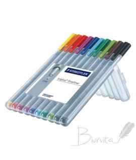 Rašiklių rinkinys STAEDTLER TRIPLUS FINELINER 334, 0,3 mm, 10 spalvų