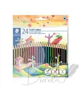 Spalvoti pieštukai STAEDTLER NORIS COLOUR, 185 24 spalvos