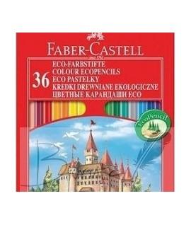 Spalvoti pieštukai Faber Castell Castle, 36 spalvos su drožtuku