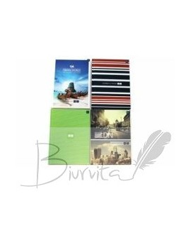 Telefonų knygelė su abėcėle INTERDRUK, A5, 72 lapai