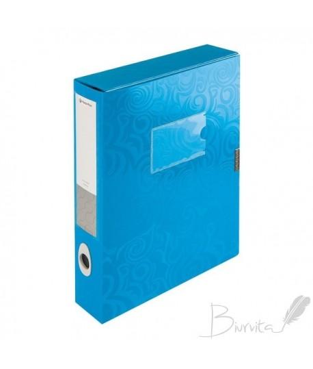 Dėklas - dėžutė dokumentams PANTA PLAST, A4, PP, mėlyna
