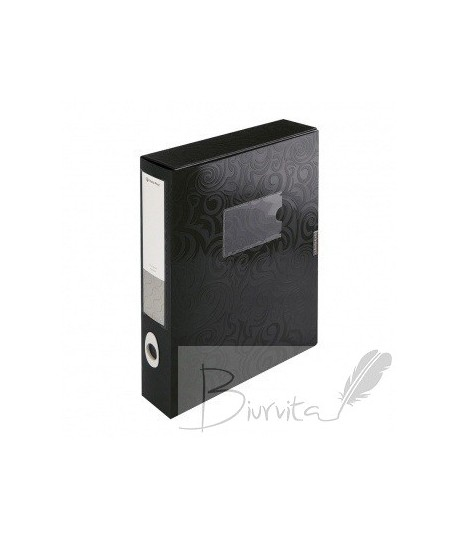 Dėklas - dėžutė dokumentams PANTA PLAST, A4, PP, juodas