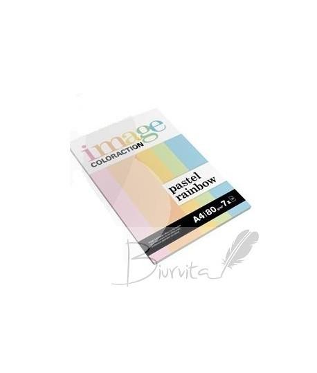 Popierius Fashion A4 80 g. 50 l. pastelinių spalvų