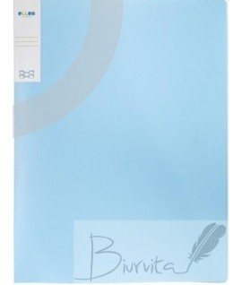 Segtuvas plastikinis ELLE A4, 2žiedų, mėlynas