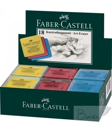 Trintukas Faber Castell Art, įv. spalvų, minkštas