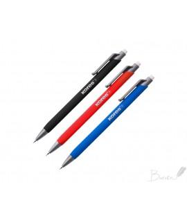 Automatinis pieštukas KORES M2 GRAFITOS, 0,7 mm, HB, korp. įvairių spalvų