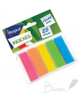 Plastikiniai indeksai - žymekliai Forpus 42028, 5 spalvos