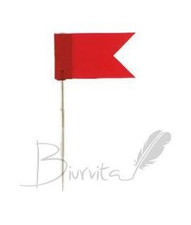 Smeigtukai vėliavėlės ALCO, 20 vnt. raudona