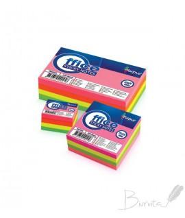 Lipnūs lapeliai FORPUS kubas, 75 x 75 mm, 320 lapelių, įv. spalvų