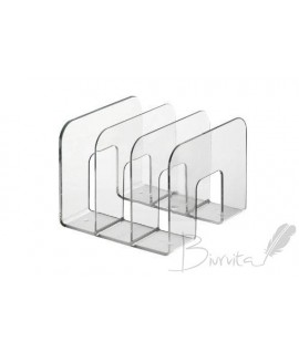 Stovas katalogams DURABLE, 3 dalių, skaidrus