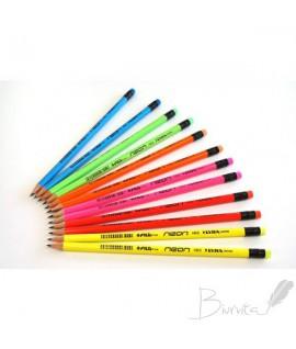 Pieštukas su trintuku Lyra/FILA, HB, korpusas neoninių spalvų