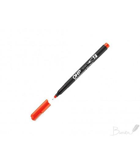 Žymiklis ICO OHP F, permanentinis, 0,5 mm, apvaliu galiuku, raudonas
