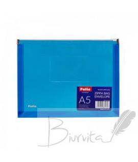 Aplankas (vokas) PATIO su užtrauktuku, A5, mėlyna