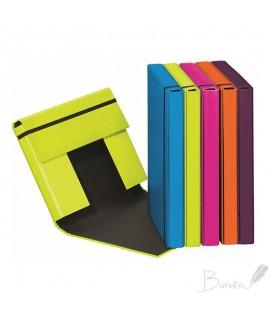 Dėžutė - dėklas dokumentams, sąsiuviniams PAGNA , A5 , su gumele